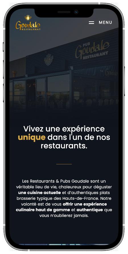 agence communication douai : Création du site web Restaurant Goudale