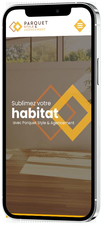 agence communication douai : Création du site web Parquet Style Agencement