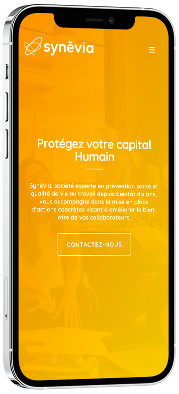 agence communication douai : Création du site web Synévia