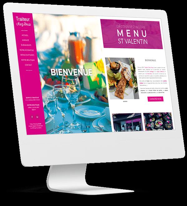 Création du site Traiteur Chez Vous by UNID