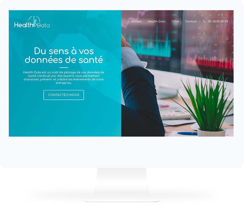 Création du site Health Data by UNID