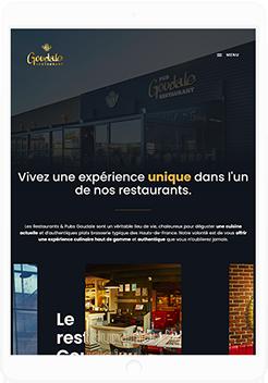 Création du site Restaurants Goudale by UNID